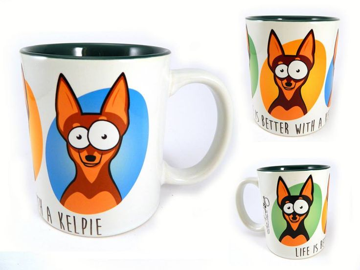 Doggy mug / Kutyás bögre Kelpie, dog, life is better with a kelpie