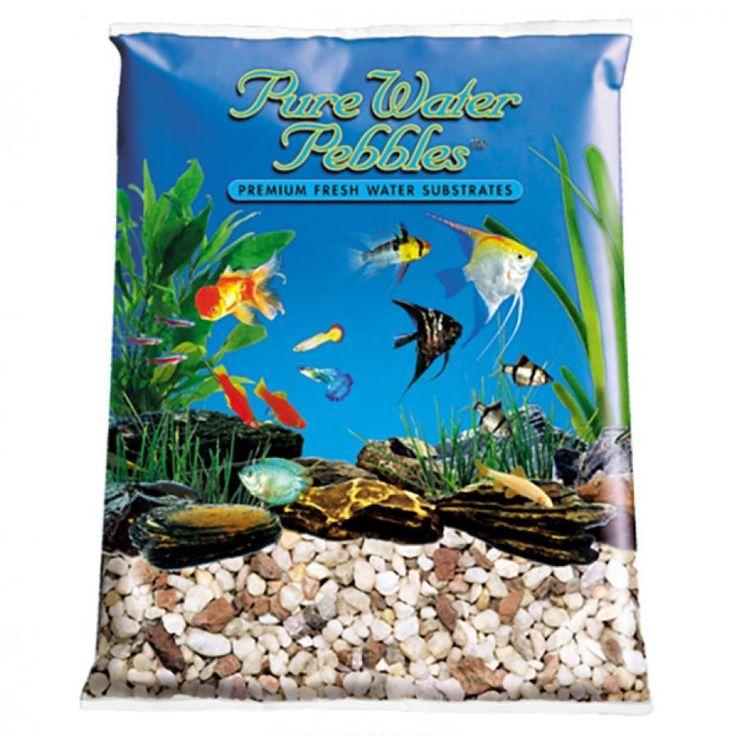 5lb Pure Water Pebbles Aquarium Gravel Custom Blend is a natural freshwater aquarium gravel substrate. Fish-safe 100% acrylic coating. Non-toxic and colorfast, will not alter aquarium chemistry. Ideal for aquariums, ponds, terrariums, crafts, landscaping
