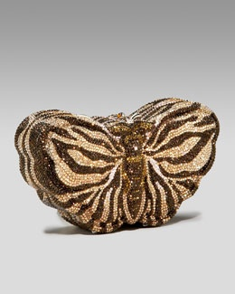 V0EZS Judith Leiber Butterfly Minaudiere