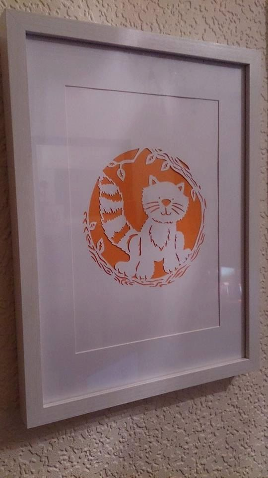 Pud the Cat  Little Icky and Friends. Paper cut by JackdawandJay