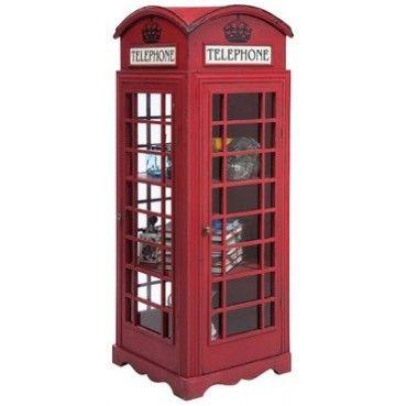 Une pièce essentielle du British Interior Design! Cette vitrine originale est tout sauf poussiéreuse. Sur trois niveaux, la très réputée #cabine téléphonique propose beaucoup de place pour bibelots et autres. Elle s´intègre facilement dans tout genre d´ambiance #Vitrine London Telephone #Kare Design