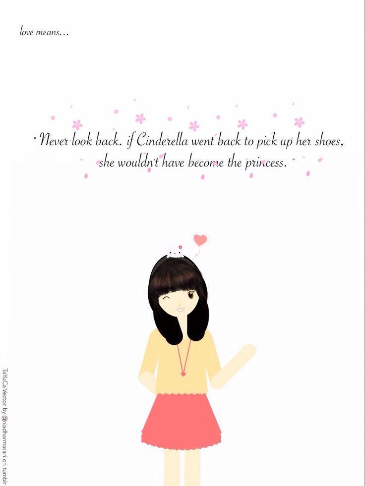 Cute Doodles — Love means… Never look back ( ´ ▽ ` )ノ   Original...
