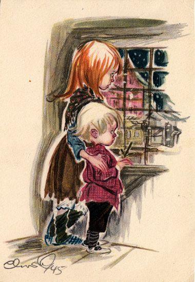 Postcard by Christel 1945