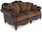 Lovely sofa in leather and fabric