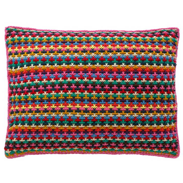 This would look fab on my vintage mustard sofa! Stripe Knitted Cushion | Cath Kidston | #CKCrackingChristmas