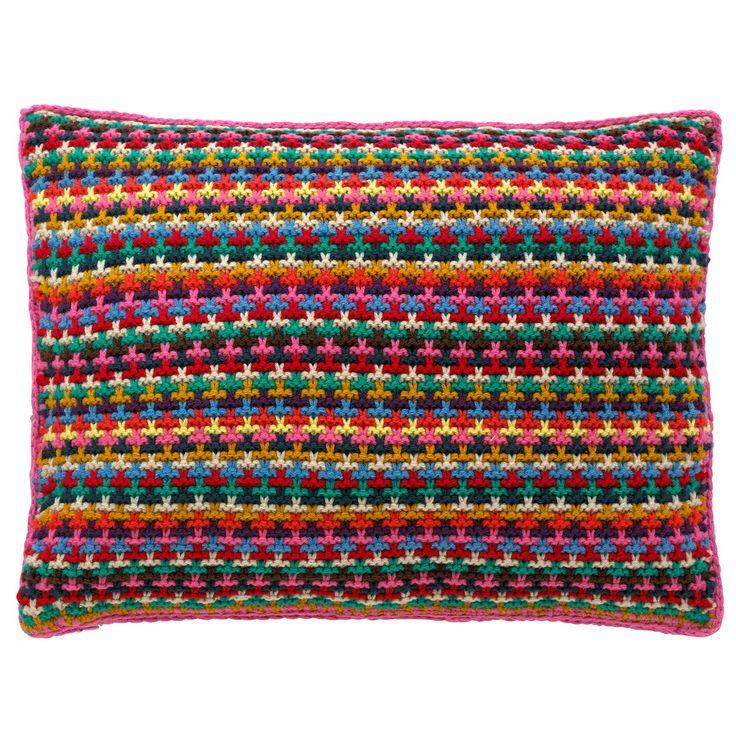 Stripe Knitted Cushion | Cath Kidston | #CKCrackingChristmas