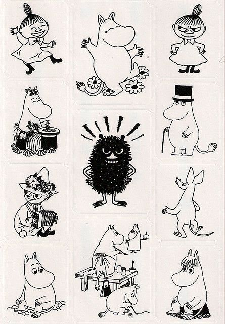 Art, illustration, Moomin,