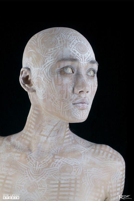 "Saatchi Art Artist: Michael Rosner; Airbrush Painting ""Transhuman"""