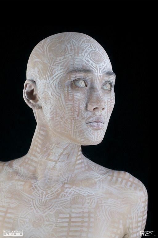 """""""Transhuman"""" by Michael Rosner  Rosner's interpretation of this idea is more subtle than the usual sic-fi art depicting our new cyborg reality. Notice how like ancient body adornment it is?"""
