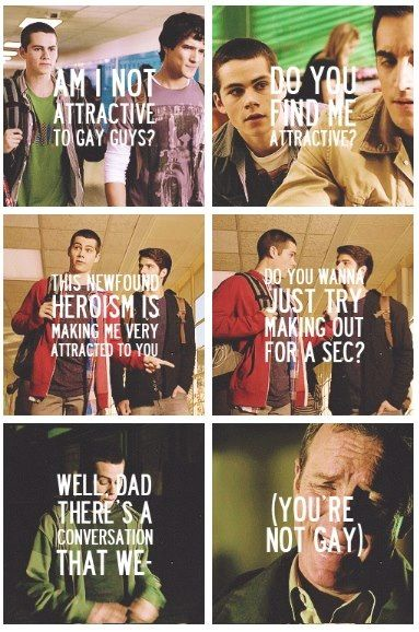 "Haha Stiles! ""You're not gay. Not dressed like that."" Lolololol"