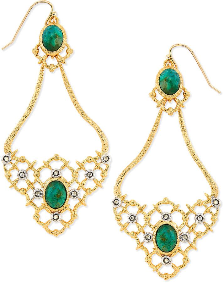 Alexis Bittar Gilded Muse d'Ore Oval Woven Earrings