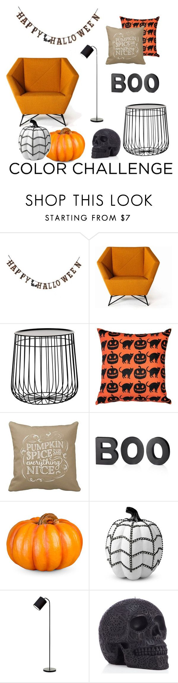 """""""Halloween Decor"""" by maryazeno ❤ liked on Polyvore featuring interior, interiors, interior design, home, home decor, interior decorating, Creative Co-op, Pols Potten, Pillow Decor and Crate and Barrel"""
