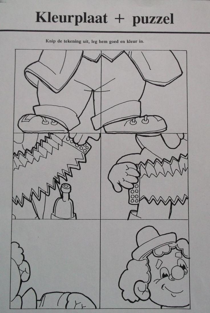 Begeleide of zelfstandige activiteit - Kleurplaat en puzzel!