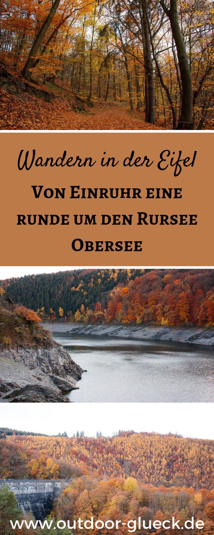 Wandern in der Eifel! Eine traumhafte Wanderung in der Eifel, von Einruhr rund um den Rursee Obersee! #wandern #eifel #wanderung #ausflugstipp