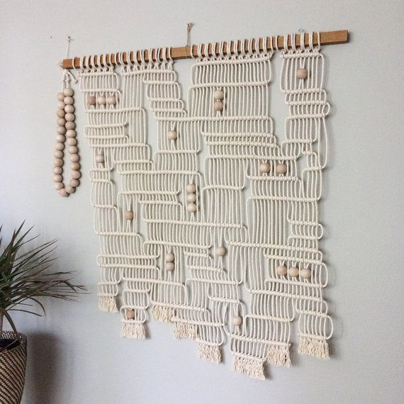 Macrame Wall Hanging Labyrinth by HollyMuellerHome on Etsy                                                                                                                                                                                 Mais