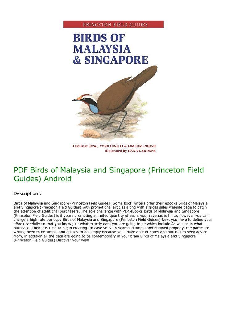 PDF Birds of Malaysia and Singapore (Princeton Field
