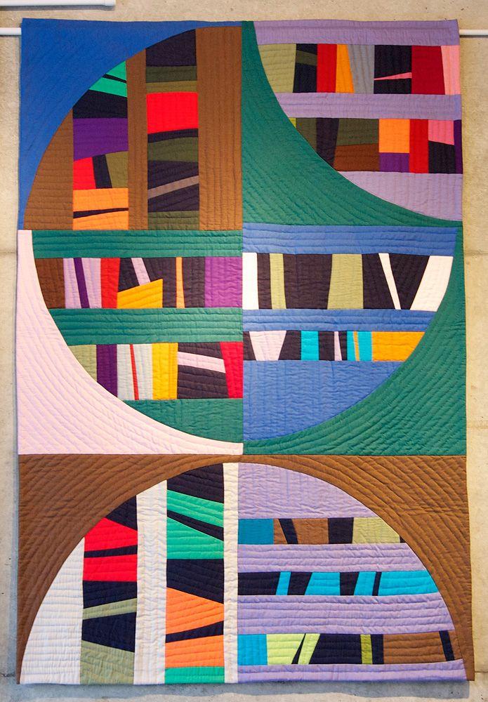 Modern quilt by Hisayo Kinoshita in Japan