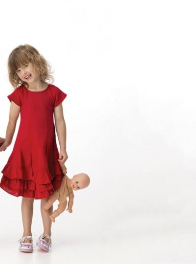 Chalk n Cheese Ice Skating Dress – Red Linen and Rib - Mulberry Lane