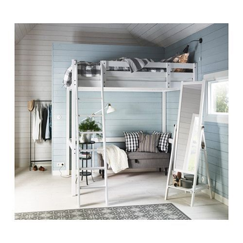 STORÅ Loft bed frame  - IKEA Simpler frame - pretty high! Could put cot/cotbed underneath potentially