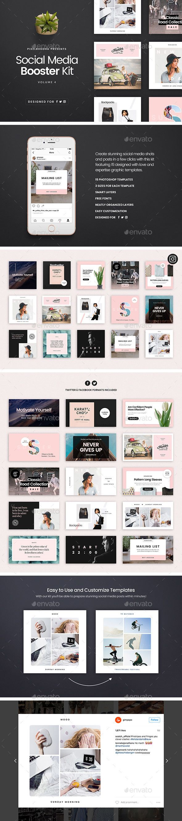 Best 25 media kit template ideas on pinterest media kit a blog social media booster kit 4 pronofoot35fo Image collections