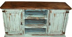 """San Carlos Antique Turquoise 60"""" TV Stand"""