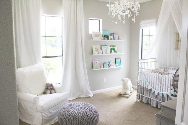 Veronika's Blushing: Harper's Nursery Reveal!   - benjamin moore revere pewter