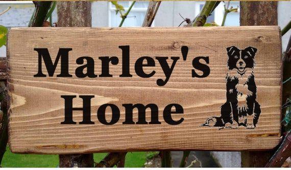 Rough Collie House Name Feature Plaque