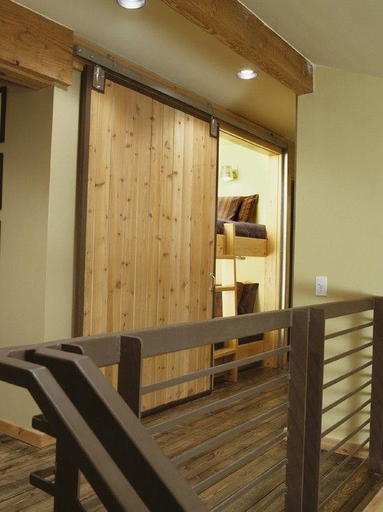 Hidden bunks for extra sleeping!Guest Room, Ideas, Barn Doors, Bunk Beds, Secret Room, Barns Doors, Beds Design, Bunkbeds, Sliding Doors