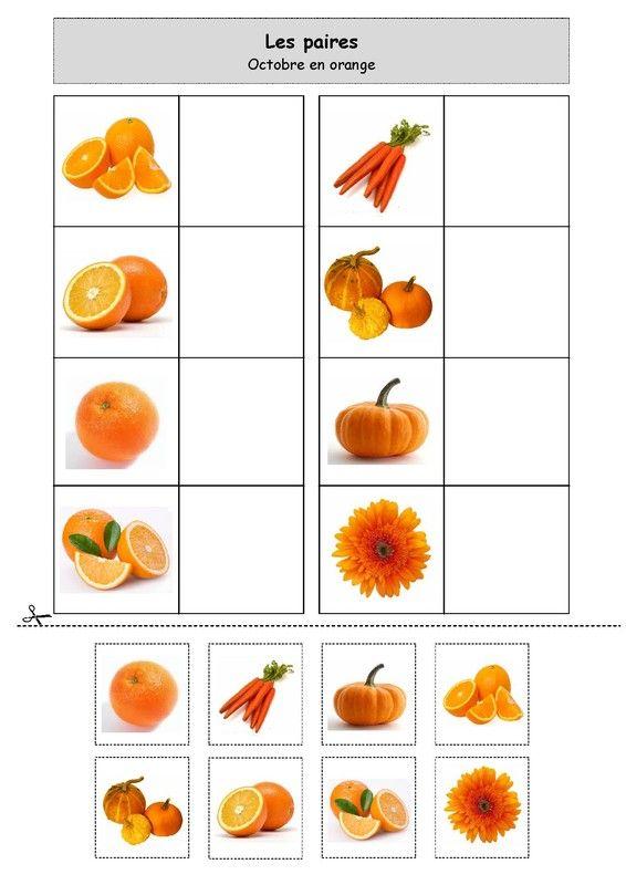 Les paires : Octobre en orange. Chez Nounou Lolo 88.