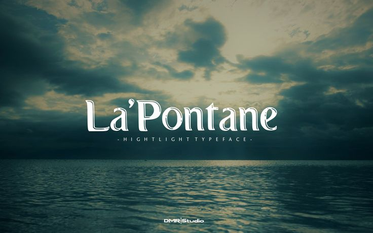 "Check out my @Behance project: ""La'Pontane Font"" https://www.behance.net/gallery/52055491/LaPontane-Font"