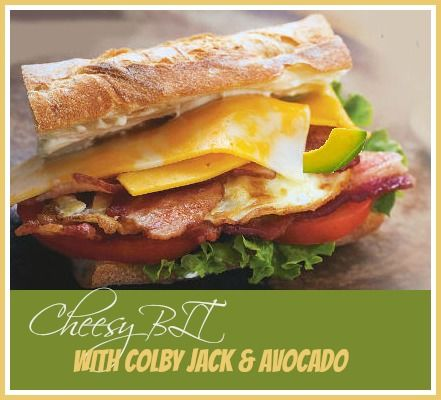 Cheesy BLT with Colby Jack Cheese and Bacon -