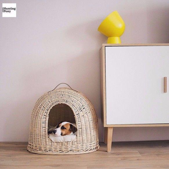 北欧風 室内犬に 夏の犬用ドームハウス ベッド 犬猫 かご ペット 手編み 中小型犬に ヤナギ Willow Vine おもちゃペット小物 Canitureキャ二チャー 通販creema クリーマ ハンドメイド手作りクラフト作品の販売サイト ドッグベッド 室内犬の部屋 犬