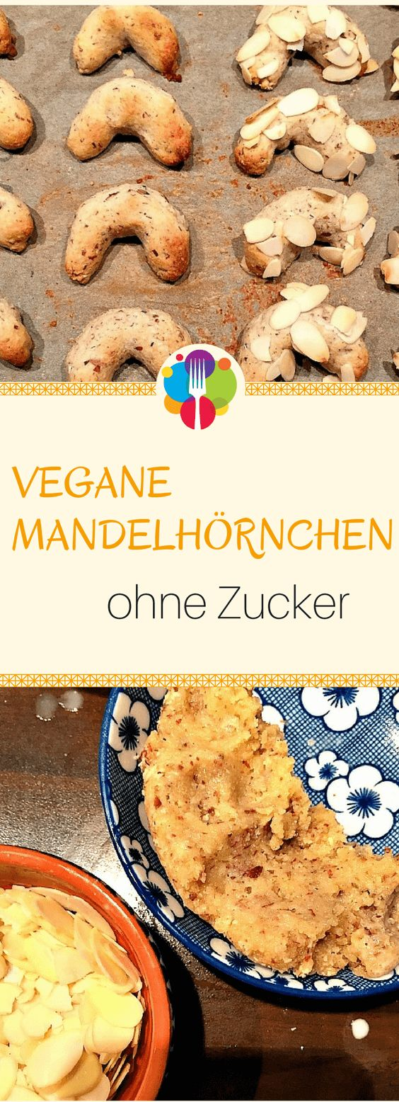 Vegane Mandelhörnchen I Vegane Kekse I Vegan backen I Entdeckt von Vegalife Rocks: www.vegaliferocks.de ✨ I Fleischlos glücklich, fit & Gesund✨ I Follow me for more vegan inspiration @vegaliferocks