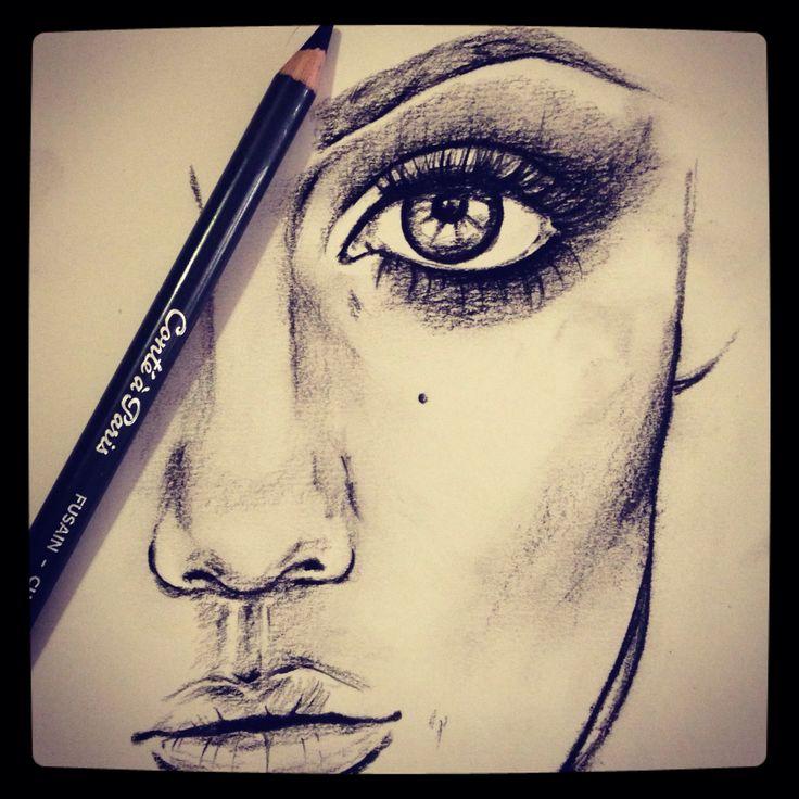 Half a face, girl with great eyebrow
