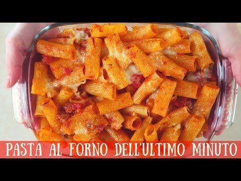 PASTA AL FORNO DELL'ULTIMO MINUTO Ricetta facile - Quick and Easy Italian Baked Pasta Recipe - YouTube