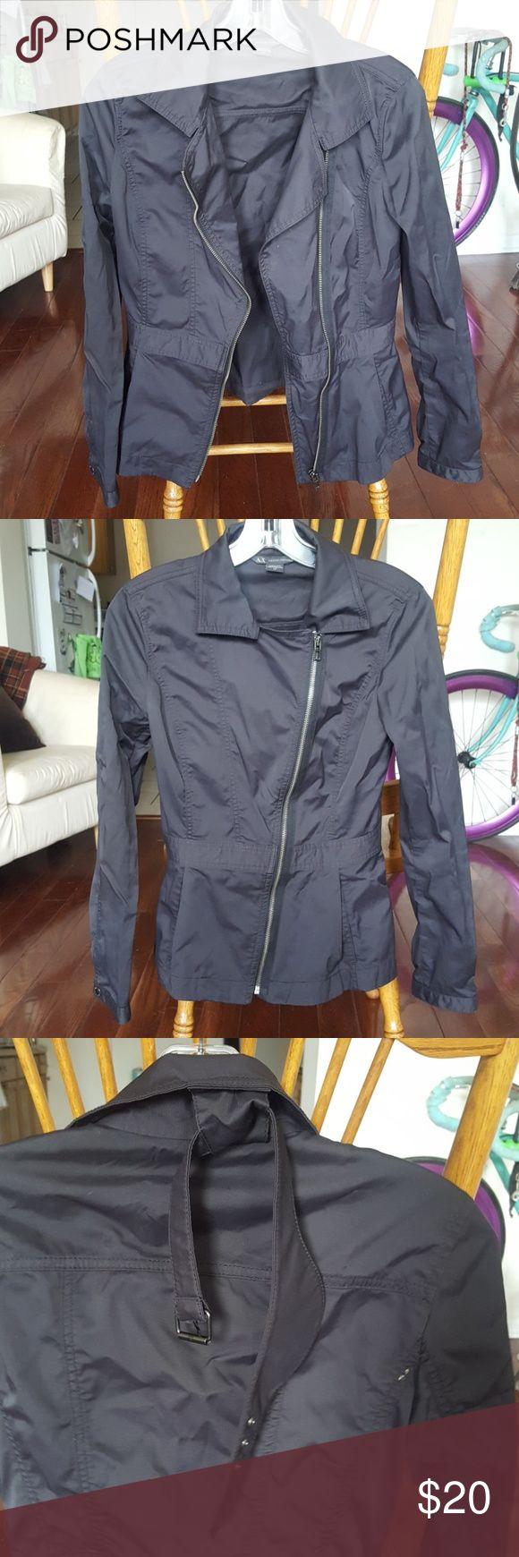 Armani Exchange Coat 49% cotton, 48% Nylon, 3% Spandex. Light bodied. Armani Exchange Jackets & Coats