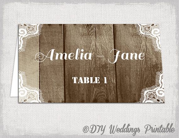 templates for place cards for weddings
