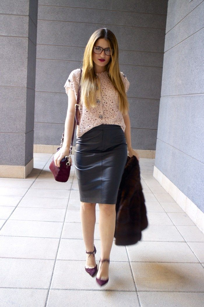 ralph lauren leather skirt dolce and gabanna top jimmy choo shoes karen millen bag 9