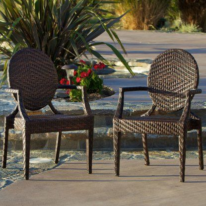 Adriana All-Weather Wicker Dining Chair - Set of 2