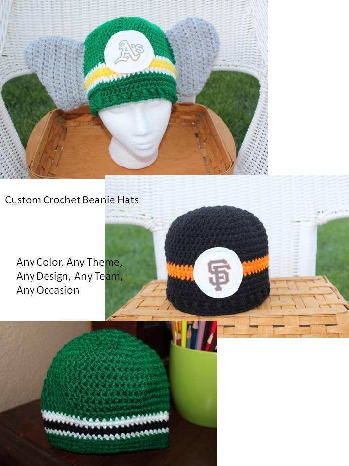 Custom Crochet Beanie Hats With Option Embroidery