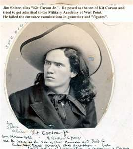 Kit Carson (1809-1868) American frontiersman and Indian fighter--Carson explored the west to California, and north through the Rocky Mountains. He lived among and married into the Arapaho and Cheyenne tribes.