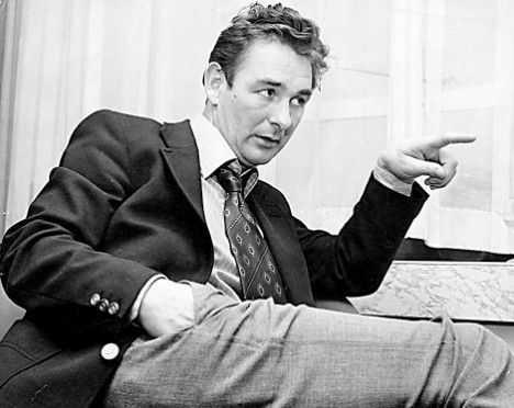 """Brian Clough  """"If God had wanted us to play at football in the clouds, would have put grass up there""""."""