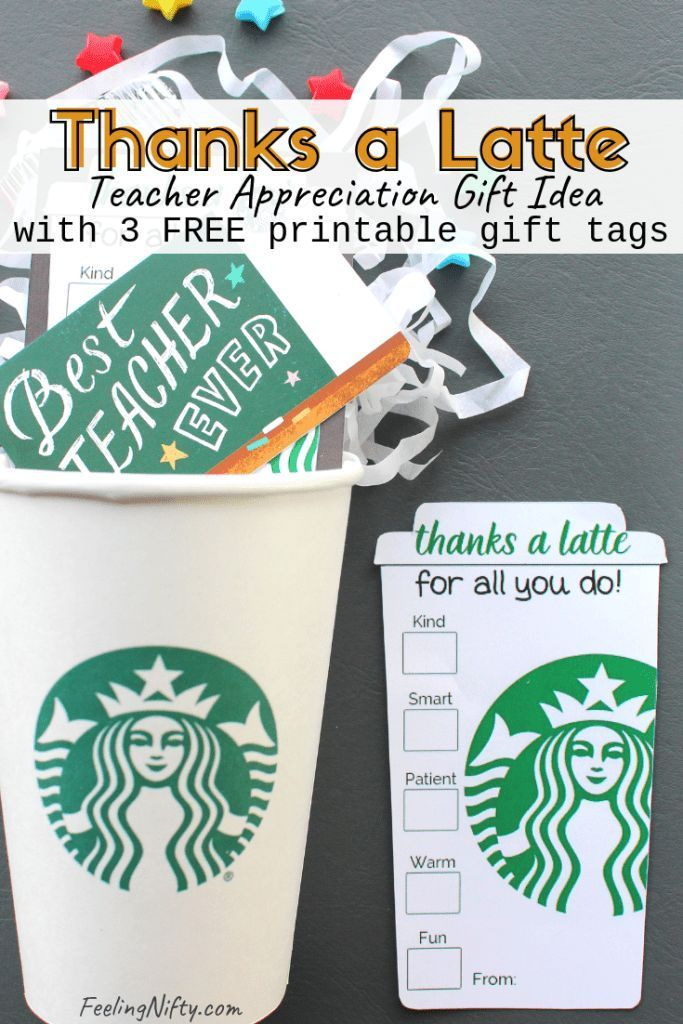 "4 Easy ""Thanks A Latte"" Teacher Appreciation Gift Ideas ..."