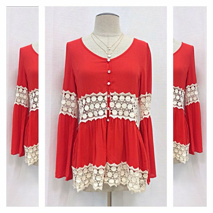 Fashion red blouse