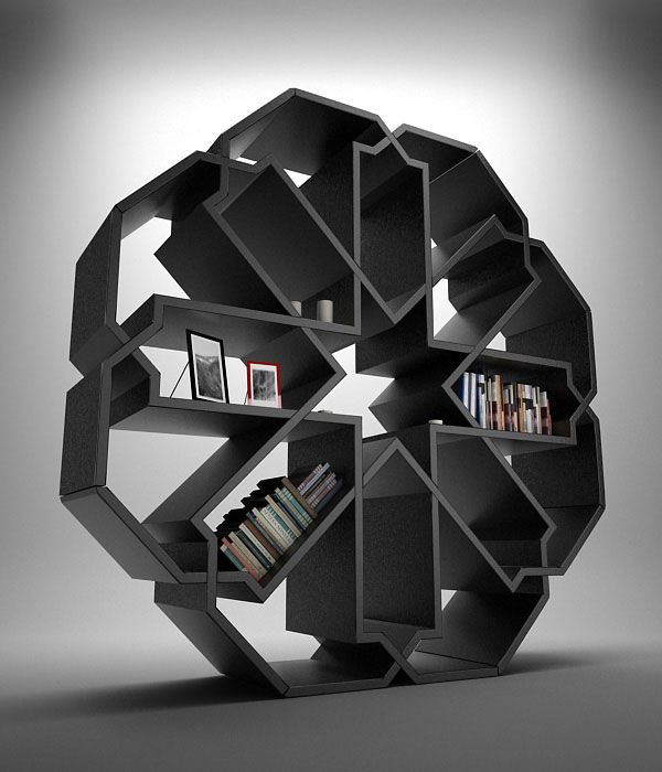 Zelli bookshelf, designed by Duret Younes