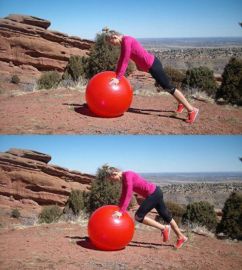 Ćwiczenie na piłce stabilizującej V
