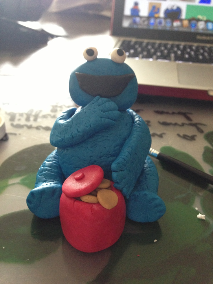 Cookie monster from fondant