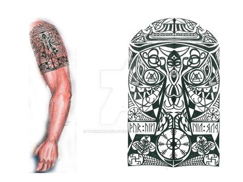 Thor's Hammer Viking tribal tattoo 2 by thehoundofulster on DeviantArt