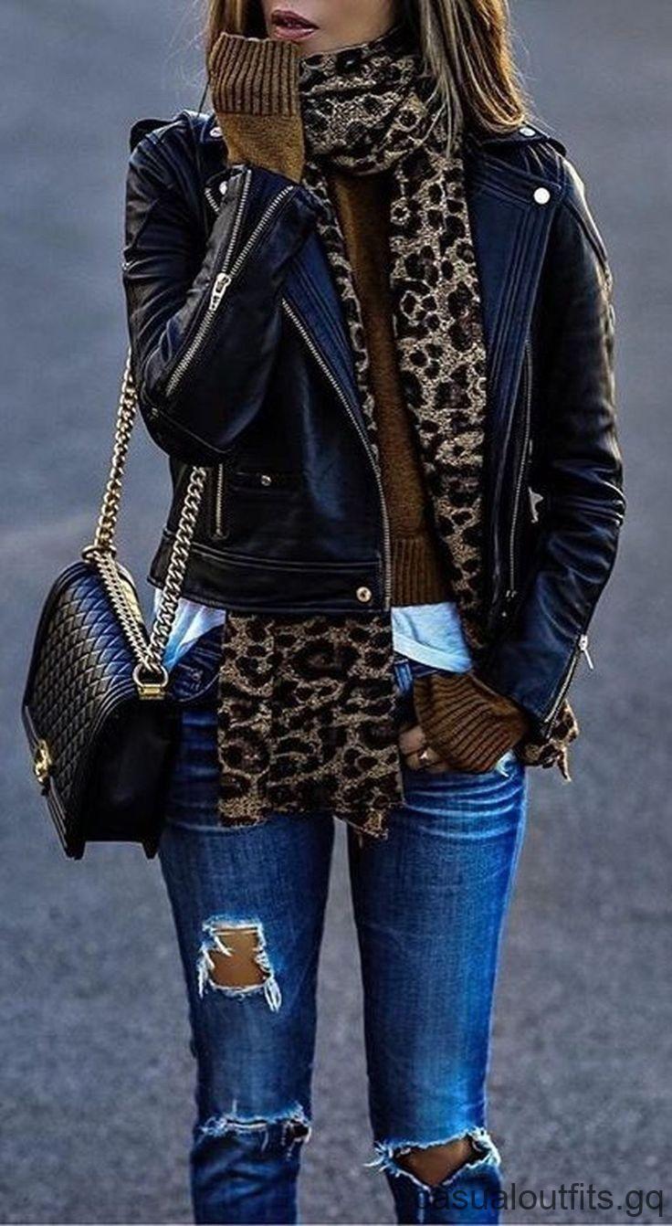 Die stilvolle und lässige Damen Winter Lederjacke passt sich