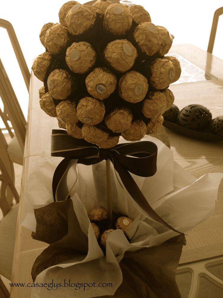 Topiario Ferrero Rocher - Arbol de chocolate